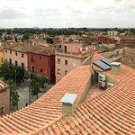 Vue panoramique depuis la terrasse des petits déjeuners