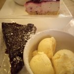 Cheesecake and brownie
