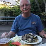 Clams and a brew