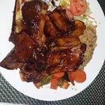 Jerk ribs and pork