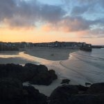 Evening view of St Ives Harbour & Bay from our first room