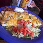 Delicious chicken burrito with amazingly fresh veggies!