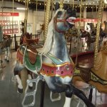 Close up of the carousel horses.