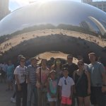 Matt took a photo for us in front of the Bean
