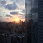 Sunrise from 27th floor looking towards Dentsu building.