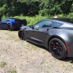 Our his-and-hers Corvettes!