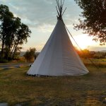 We reserved the tipi for our overnight.