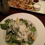 salad and calamari