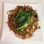 Shangainese Thick Noodle with Spinach