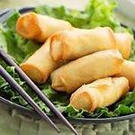 Vegetarian spring rolls,