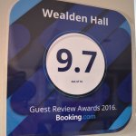 Our rating from Booking.com supports the Tripadvisor reviews