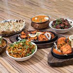 Selection of Indian and indo-chinese food at Mumbai Junction Indian Restaurant in Harrow