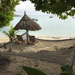 Hammock and private chairs/umbrella for beach front villa #1