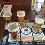 Sampling the many beers