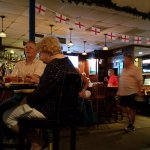 The comforting ambiance of Stoney' s British Pub with Stoney himself in residence tending to the