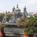 View from the south terrace toward the Catedral Metropolitana and Zocalo.