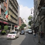 Calle Donceles in front of Hotel Catedral.