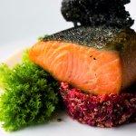Ora King Salmon, organic beetroot and quinoa