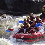 Travelling the rapids with Foaming Fury near Cairns