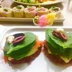 View from Hendricks restaurant & sample of food options