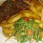 Sirlion steak with montreal sauce - YUM!