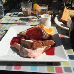 French toast with cherry