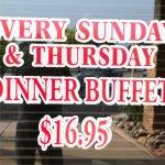 Dinner Buffet days