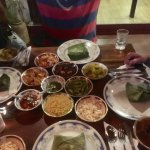 Rice & curry at Ella Village - all this for 750r a person!