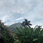 Clear view of Arenal Volcano from our front porch