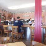 Inside Molly Brown's Country Cafe at Helendale, California, on Route 66.