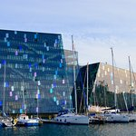 Harpa Concert Hall - across the road from the hotel.