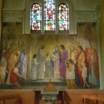 Peinture murale de 1943 : «Le Baptême de saint Dominique» de Paul Charavel