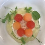Cardigan Bay crab with tomato jelly