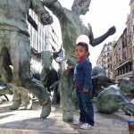 Monumento al Encierro, cerca de Fosters Hollywood-Pamplona.