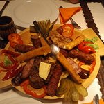 Traditional peasant's plate