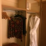 Closet area with robes