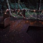 Fairy lights on terrace