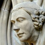 A finely carved head in the Chapter House