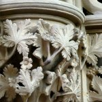 Detailed foliage carving in the Chapter House