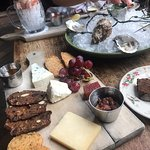 Cheese board, oysters and prawns oh my!
