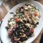 Warm orzo salad....yummy