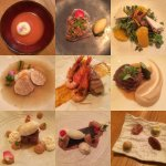 All the dishes from our tasting menu. Delicious.