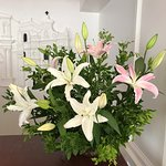 Lovely flowers at resception