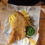 Fish & Chips at the Propeller Inn, Bembridge Airfield.