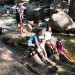 Rock Climbing among the stream
