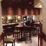 Dining in the bar area.