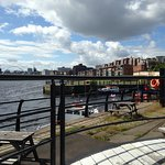 View up the river to Newcastle Gateshead from the cycle Hub, Quayside