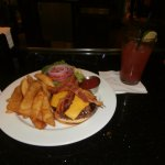 Burger and Bloody Mary at the bar....recommended