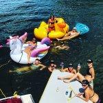 More bachelorette fun. Charleston's most popular bachelorette party boat