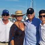 Dan Aykroyd and wife Donna Dixon onboard Kismet for his 65ft birthday July 1st 2017